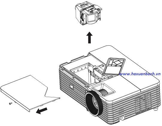 Hướng dẫn thay thế bóng đèn máy chiếu PJD6544W