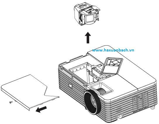 Minh hoạ thay đèn máy chiếu Viewsonic PJD6345