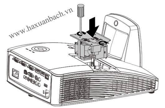 Thay bóng đèn máy chiếu Vivitek D757WT Bước 6