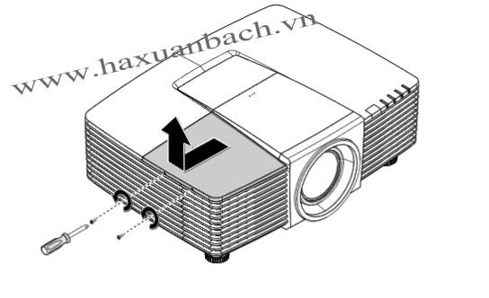 Thay bóng đèn máy chiếu Vivitek DW3321 bước 4