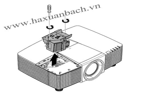 Thay bóng đèn máy chiếu Vivitek DW3311 bước 6