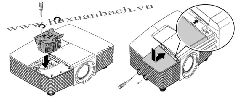 Thay bóng đèn máy chiếu Vivitek DW3321 bước 8