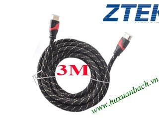 Cáp HDMI 3M Z-TEK V1.4 vỏ cáp bọc dù