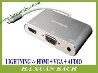 Cáp chuyển từ Lightning ra HDMI và VGA-AUDIO