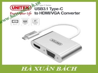 Cáp chuyển từ Type-C ra HDMI và VGA Unitek