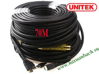 Cáp HDMI 70M Unitek 1.4/4K