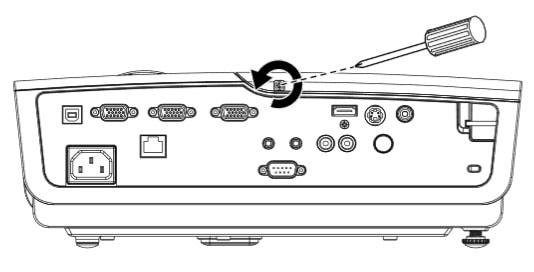 Thay bóng đèn máy chiếu Promethean PRM-25-bước 1