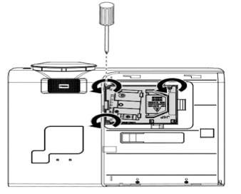 Thay bóng đèn máy chiếu Promethean PRM-25-bước 4
