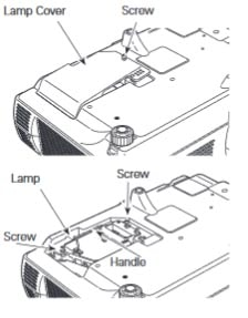 Hướng dẫn thay bóng đèn máy chiếu Promethean PRM-10